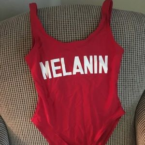 Other - Red melanin one piece bathing suit